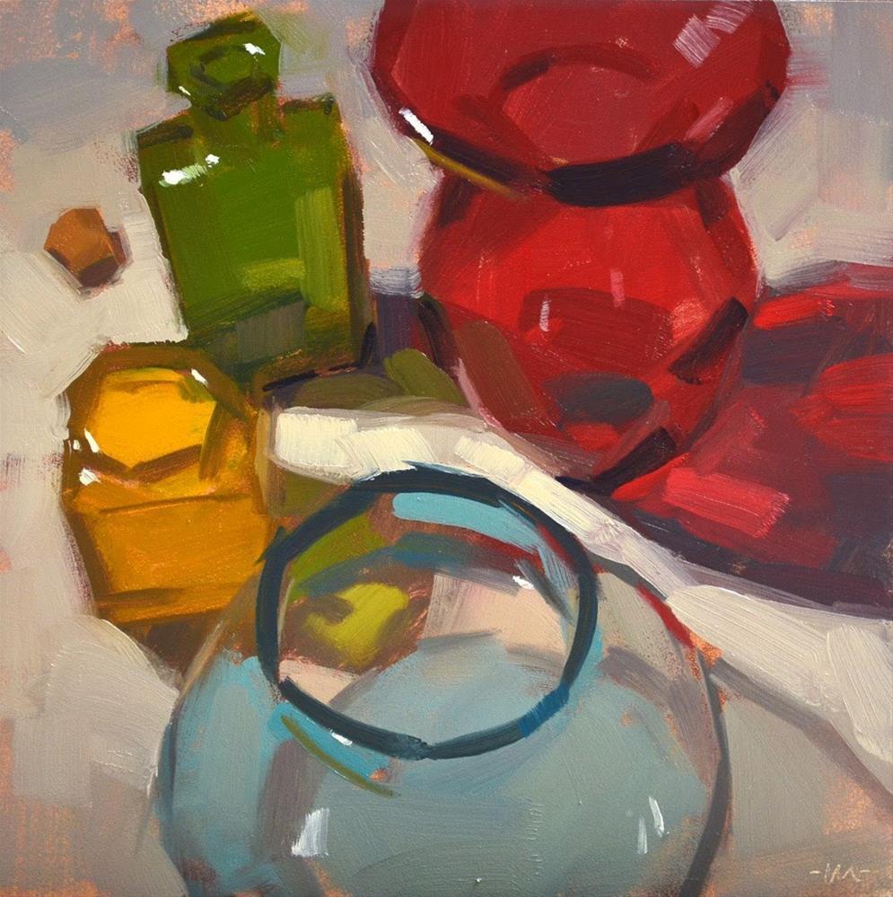 """Who Fits This Cork?"" original fine art by Carol Marine"