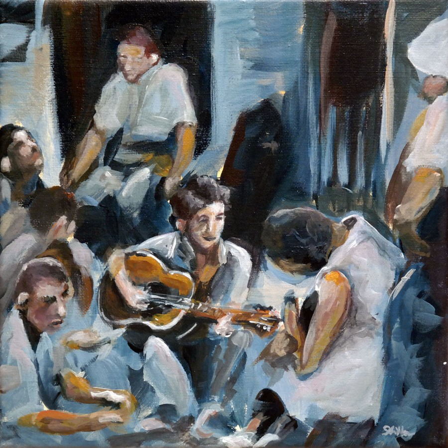 """1272 Folk Singer"" original fine art by Dietmar Stiller"