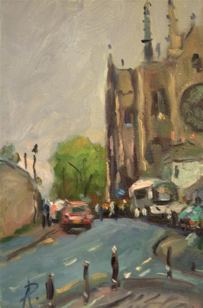 """""""Arundel Cathedral"""" original fine art by Andre Pallat"""