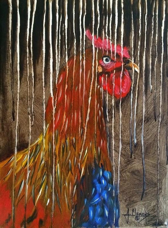 """""""Spring Chicken"""" original fine art by Jolynn Clemens"""