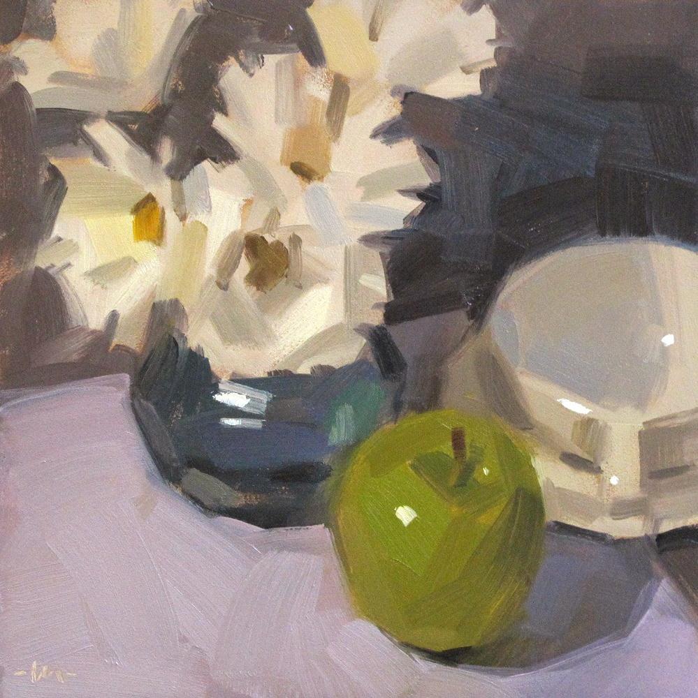 """""""A Good Spot For An Apple"""" original fine art by Carol Marine"""