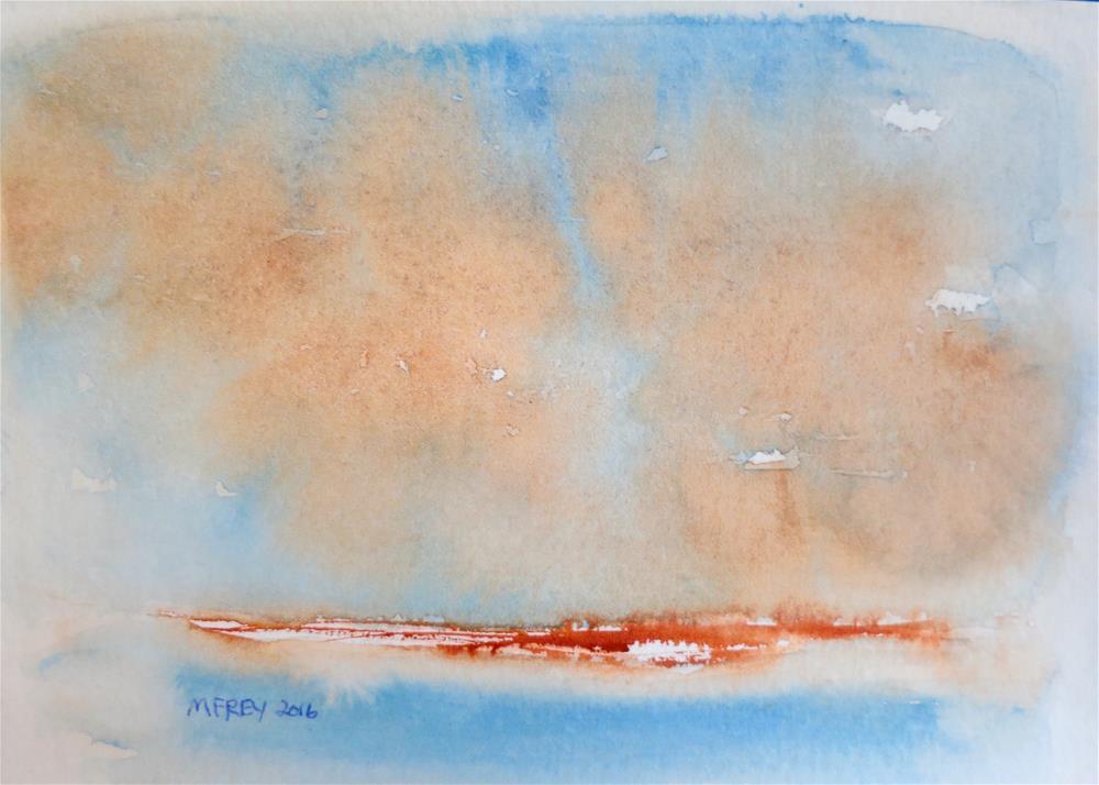 """Landscape 0100"" original fine art by Michelina Frey"