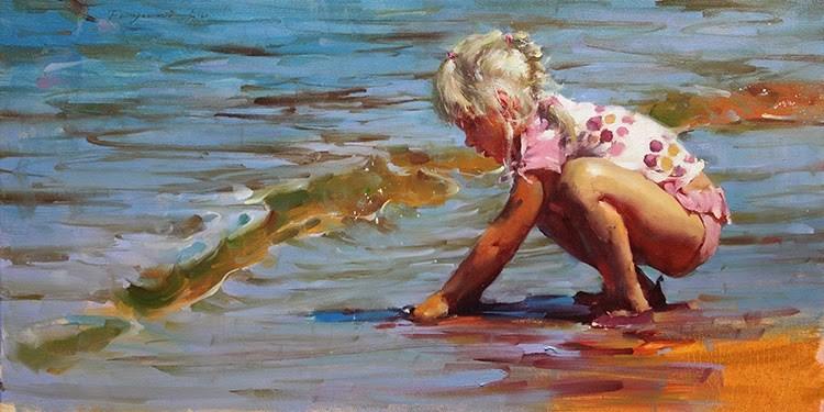 """""""Summer in Tahoe 3"""" original fine art by Fongwei Liu"""