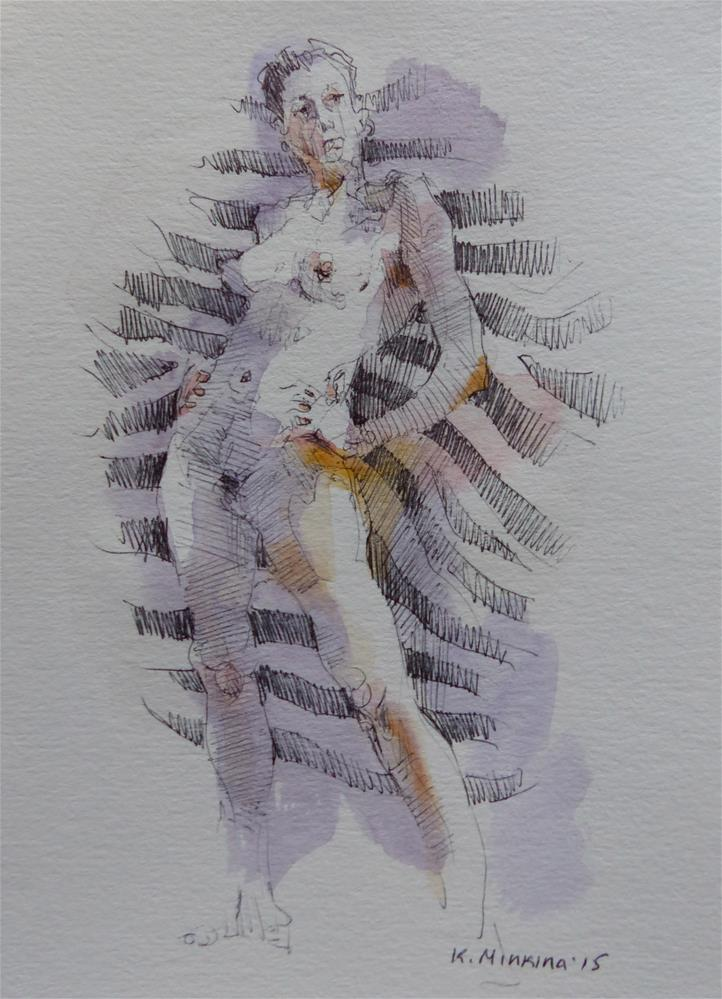 """sketchbook#6"" original fine art by Katya Minkina"