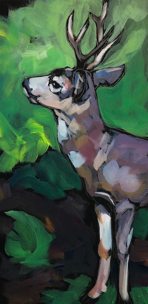 """""""Buck Up"""" original fine art by Kat Corrigan"""
