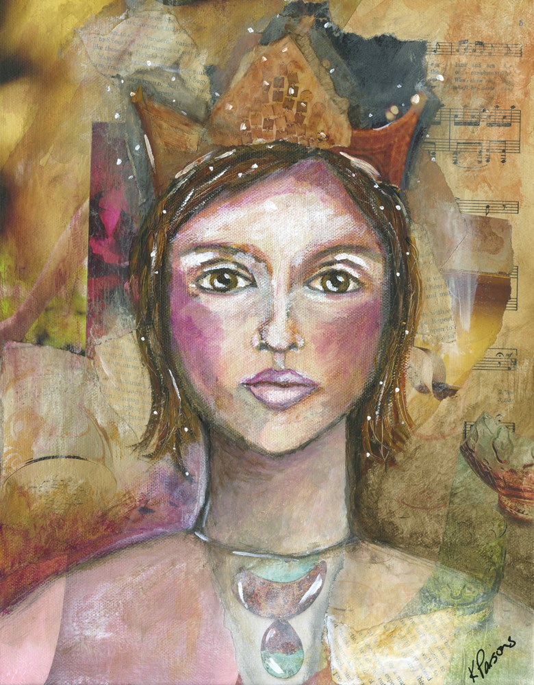 """The Queen"" original fine art by Kali Parsons"