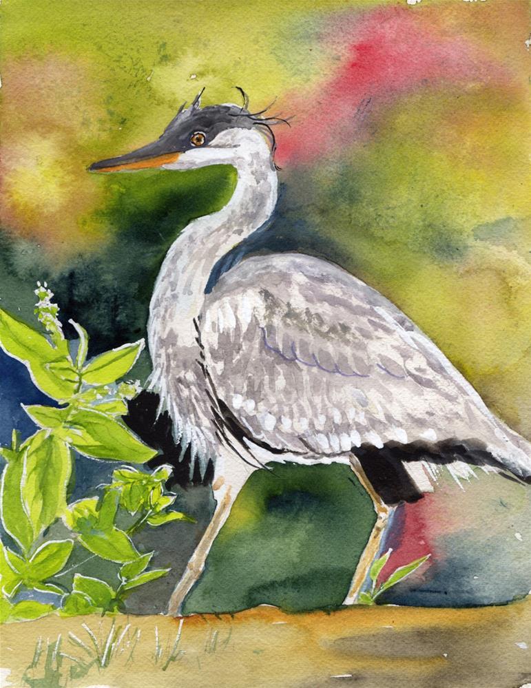 """Great Blue Heron"" original fine art by Bunny Griffeth"