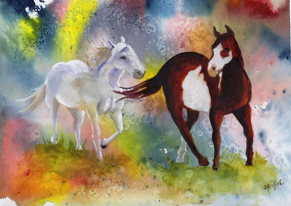 """Free Spirits"" original fine art by Bunny Griffeth"