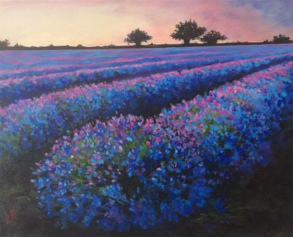 """Lavender Fields"" original fine art by wendy black"