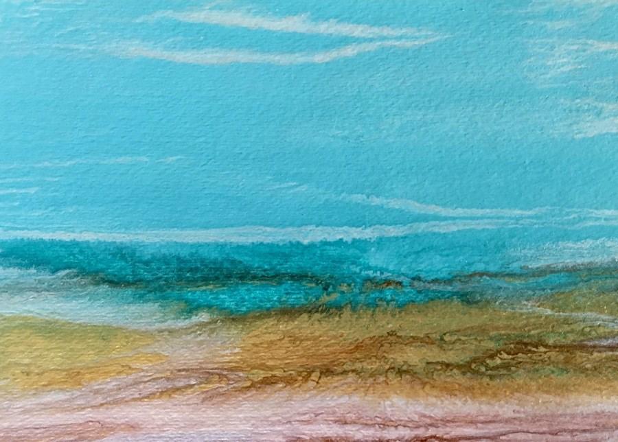 """Ocean, Abstract Seascape Painting, Beach, Coastal Art Beach Bash Sale #1 by International Contempo"" original fine art by Kimberly Conrad"