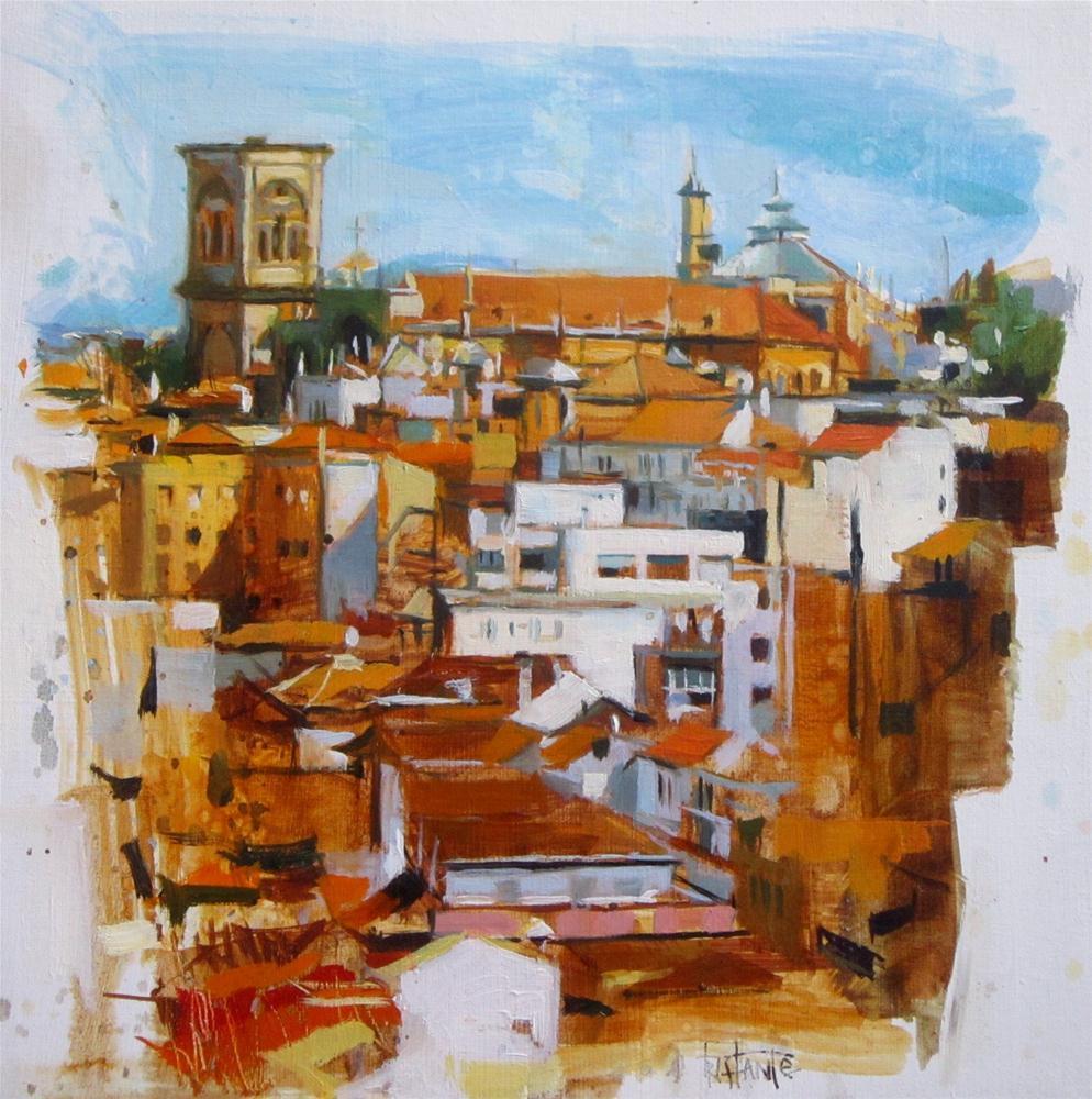 """Cathedral of Granada"" original fine art by Víctor Tristante"