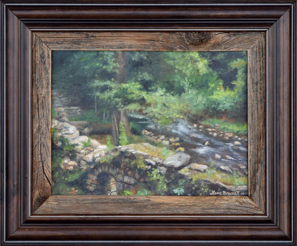 """""""Old Mill Stream II"""" original fine art by Lori Brackett"""