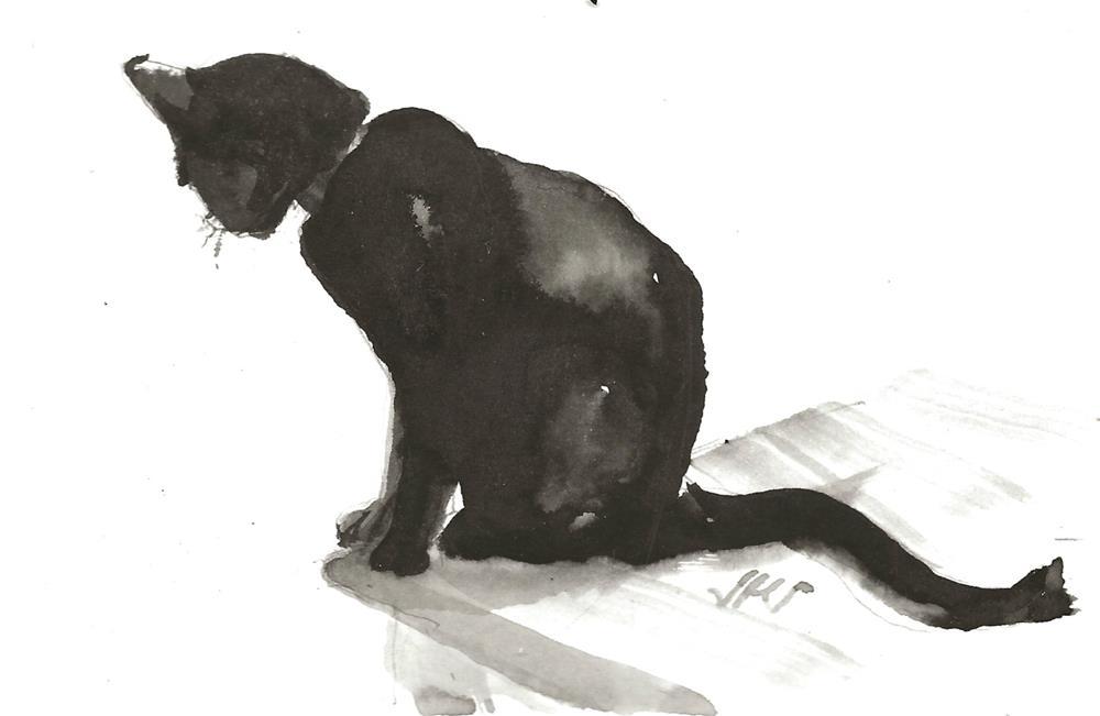 """Daily Cat 94"" original fine art by Jean Krueger"