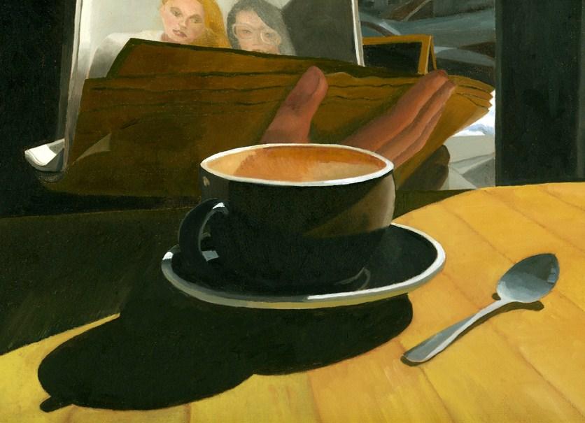 """SUNDAY PAPER"" original fine art by Nancy Herman"