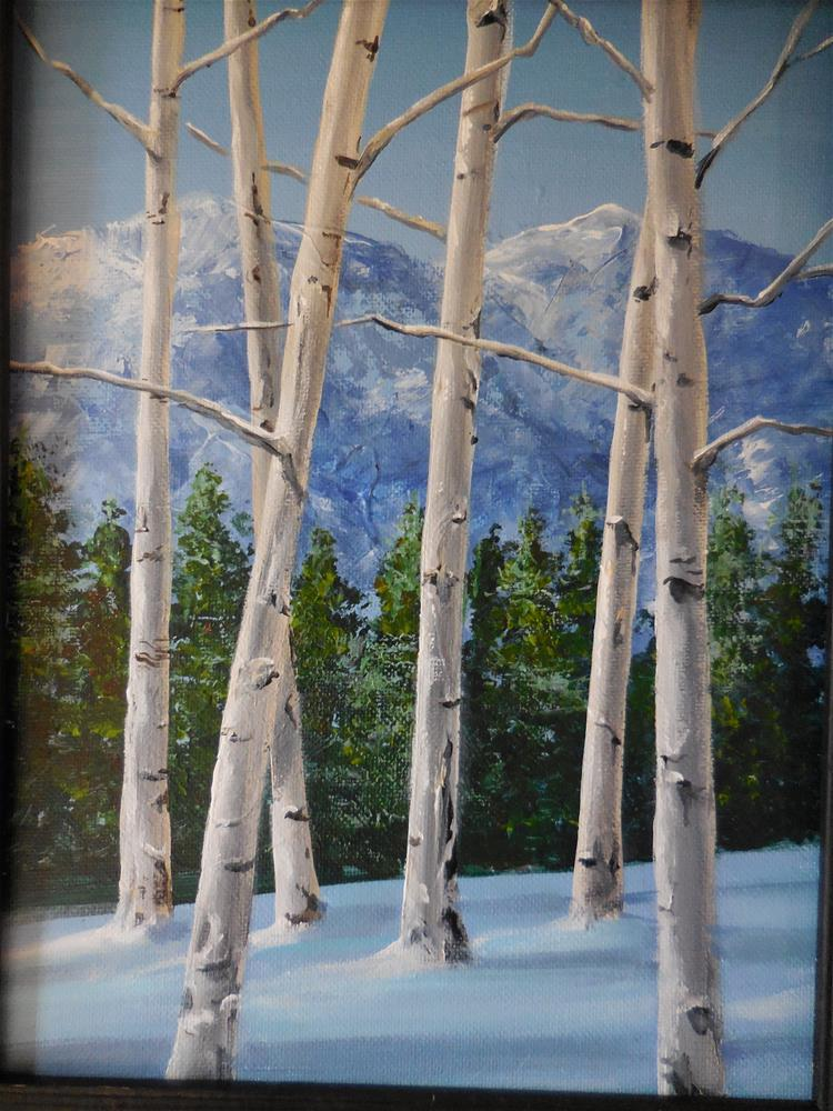 """Winter Aspens"" original fine art by Terri Nicholson"
