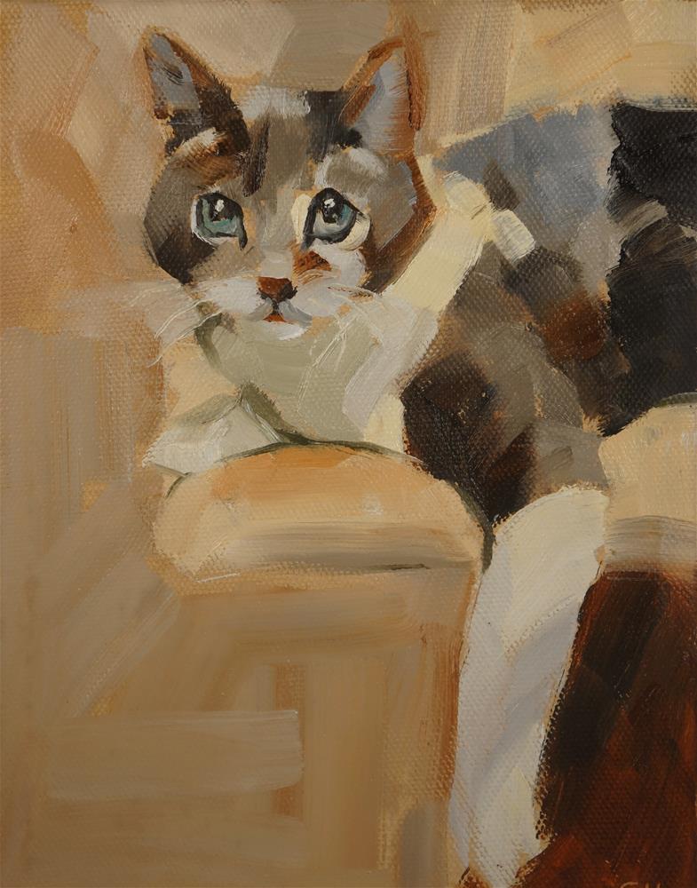 """Laptop"" original fine art by Sue Harrell"