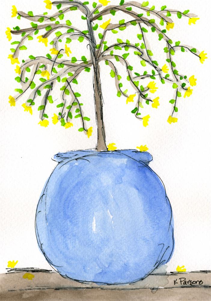 """Big Ol' Potted Plant"" original fine art by Kali Parsons"