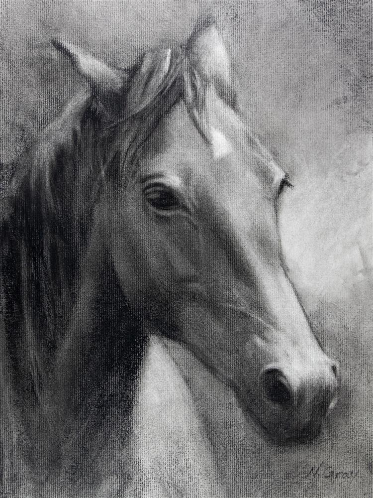 """Cherry the Horse"" original fine art by Naomi Gray"