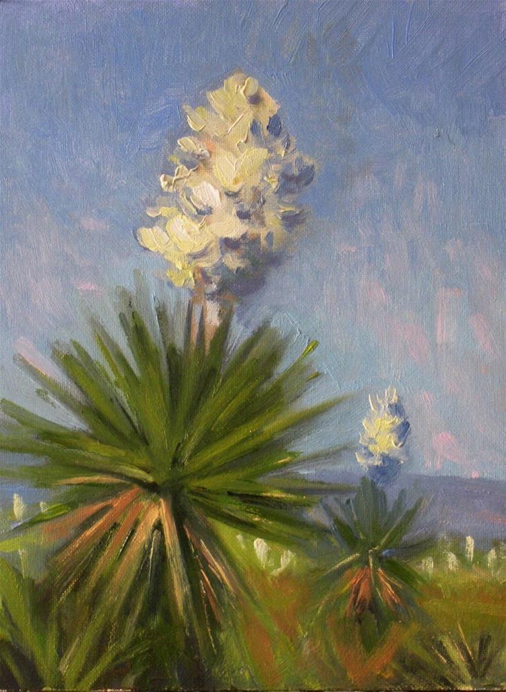"""Yucca at Dagger Flats"" original fine art by David Forks"