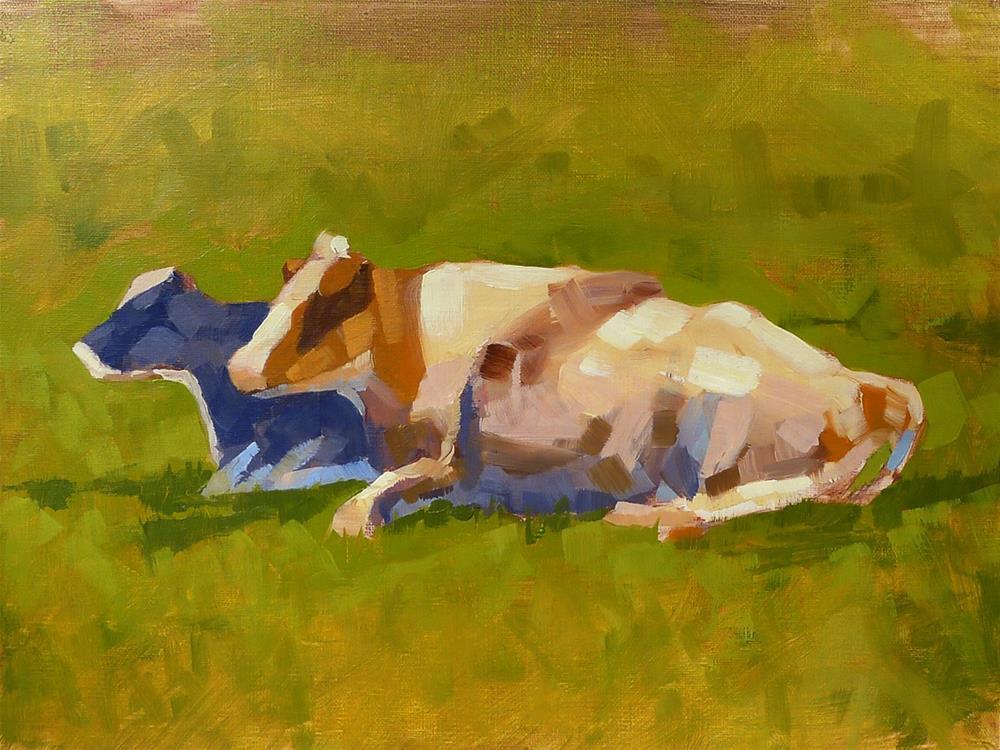"""Cows in a Field"" original fine art by Adam Houston"