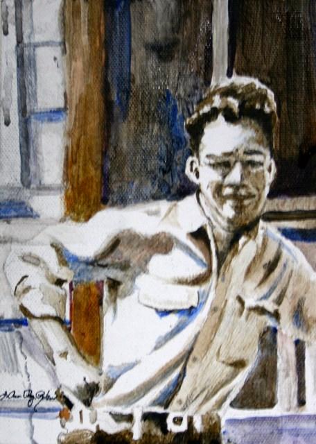 """Young Ray"" original fine art by JoAnne Perez Robinson"