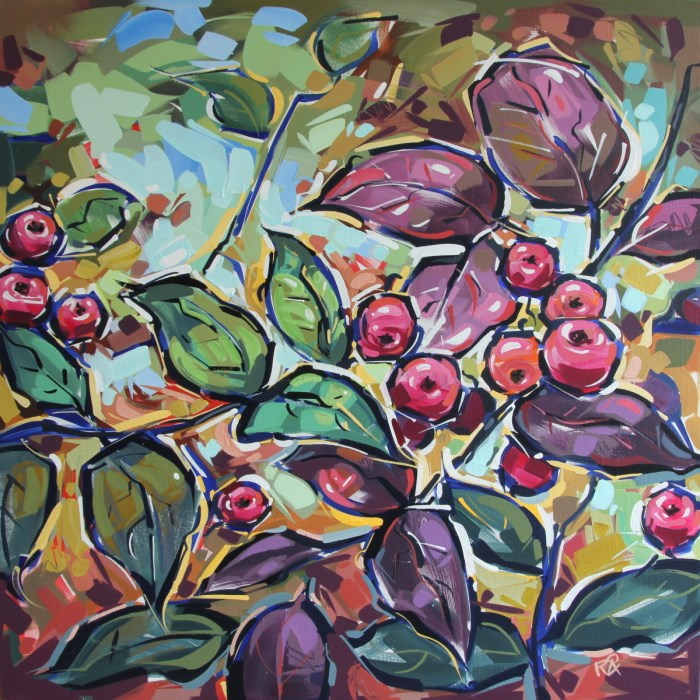"""Rowan Berries 25"" original fine art by Roger Akesson"