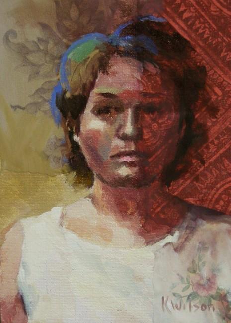 """Blue Streak"" original fine art by Katie Wilson"