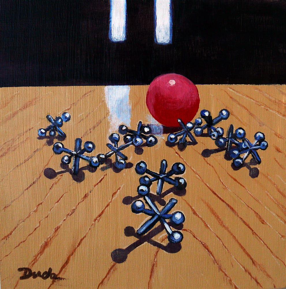 """""""Foursies Dream Throw"""" original fine art by Susan Duda"""