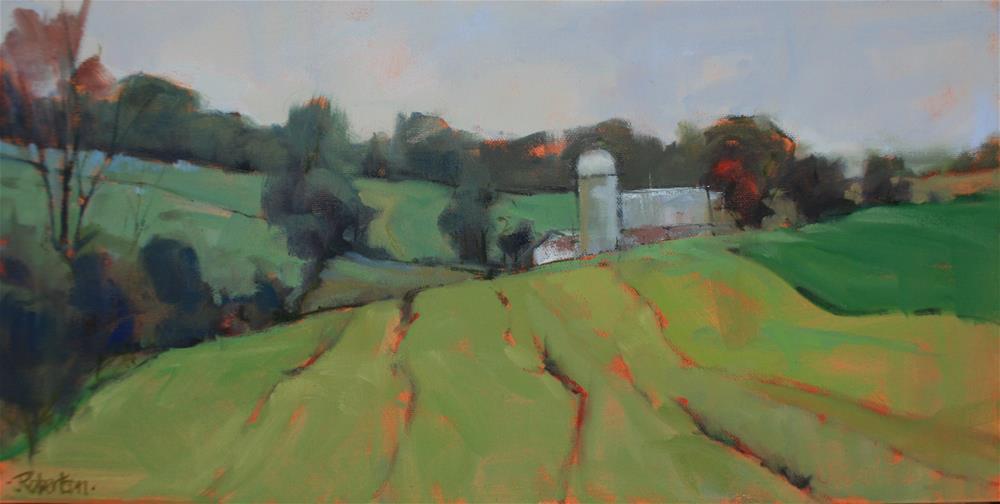 """""""Rural Fieldscape"""" original fine art by Jane Robertson"""
