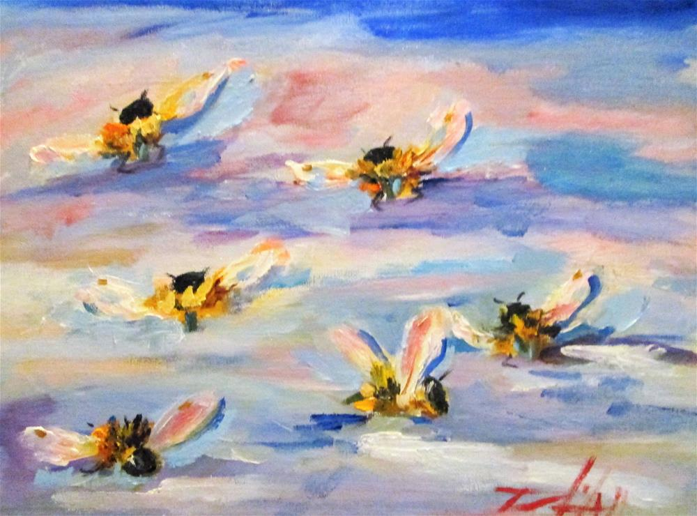 """Wild Bees"" original fine art by Delilah Smith"