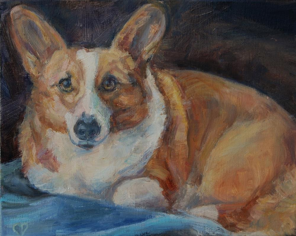 """Corgi Original painting by Carol DeMumbrum"" original fine art by Carol DeMumbrum"