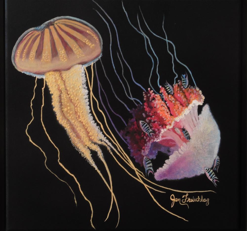 """Sea Jellies"" original fine art by Janice Freischlag"