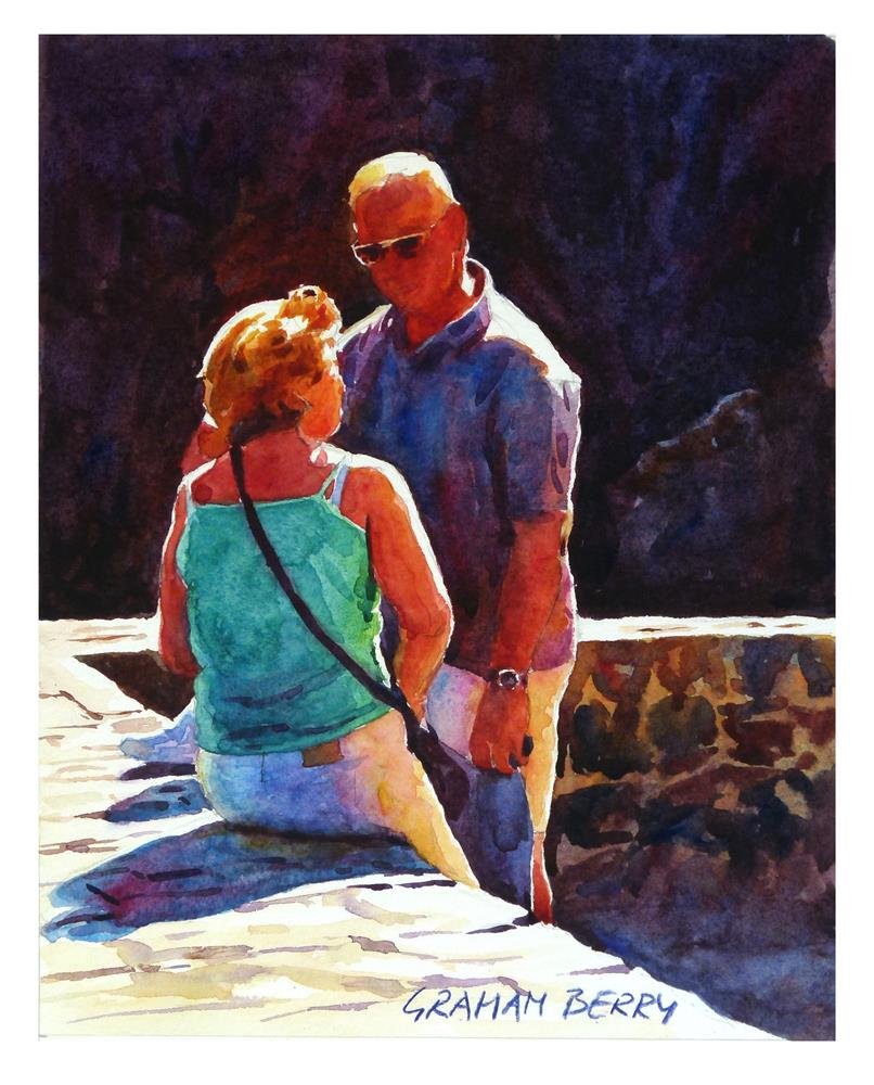 """Conversation in the sun"" original fine art by Graham Berry"