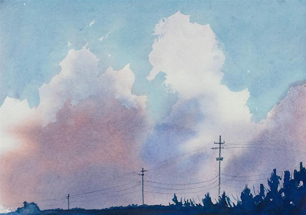 """""""Golden Isles Bound: Sky Painting I"""" original fine art by Maria Peagler"""