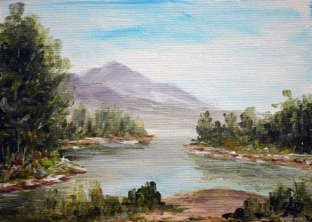 """Kootenai River"" original fine art by Gloria Ester"