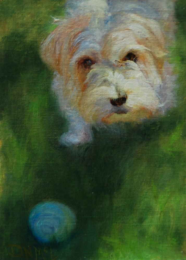 """""""Throw It !"""" original fine art by Dorothy McLennan"""