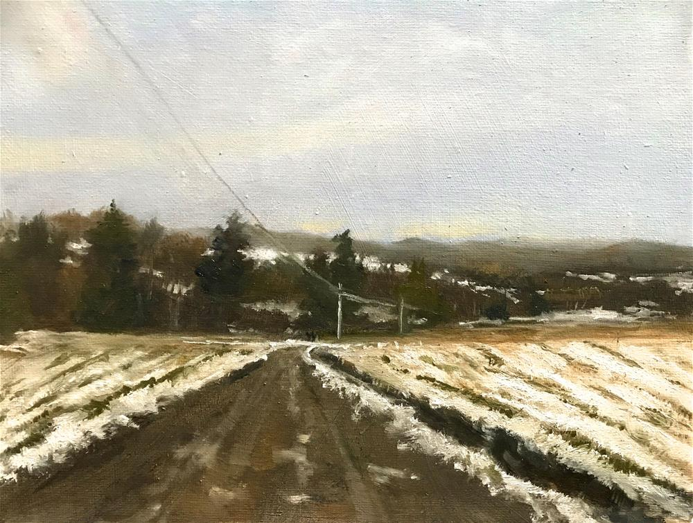 """first snow in the fields"" original fine art by Betty Argiros"