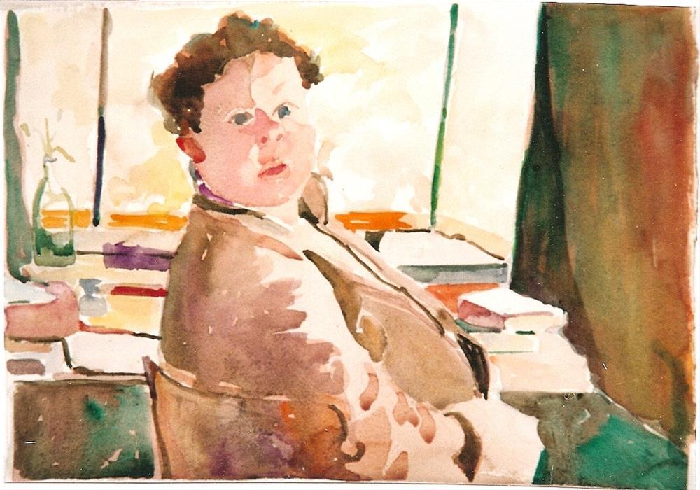 """Dylan"" original fine art by meribeth coyne"