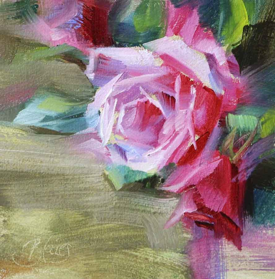"""""""Garden Rose Study"""" original fine art by Pamela Blaies"""