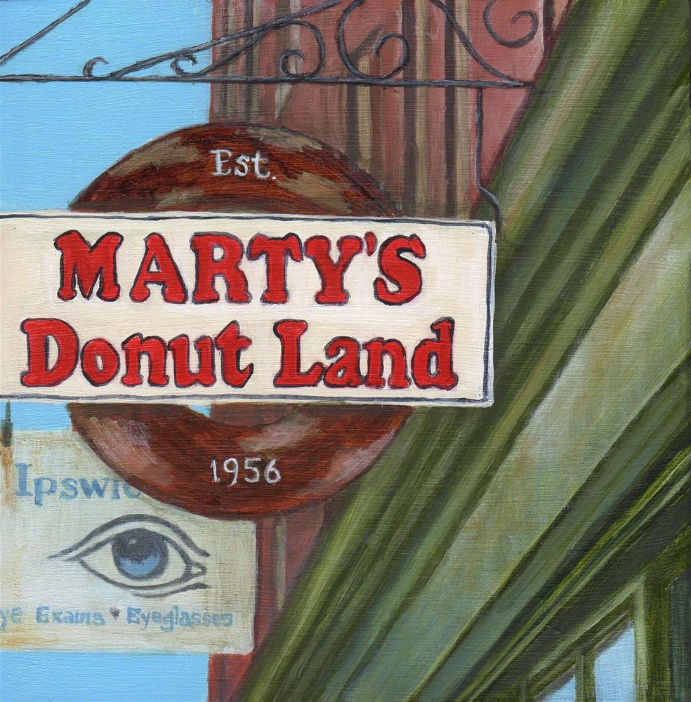 """Marty's Donut Land"" original fine art by Debbie Shirley"