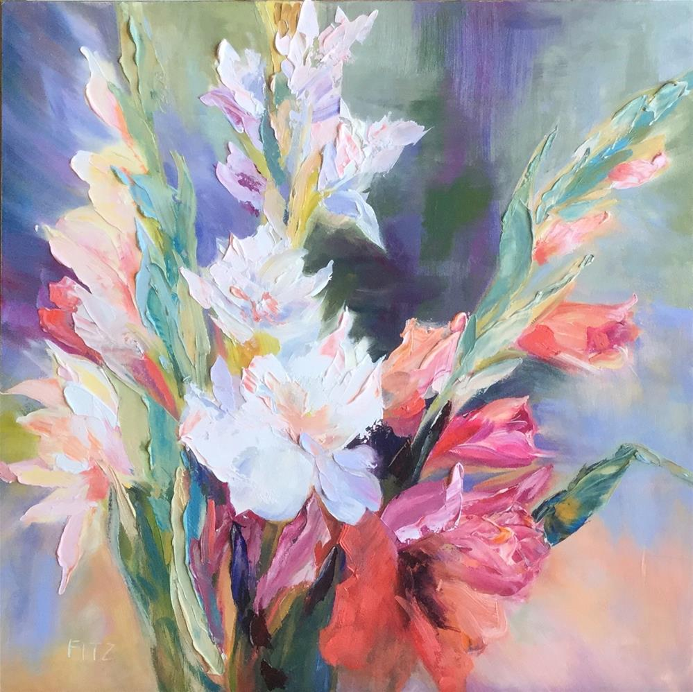 """Aunt Charlotte's Gladiolus"" original fine art by Charlotte Fitzgerald"