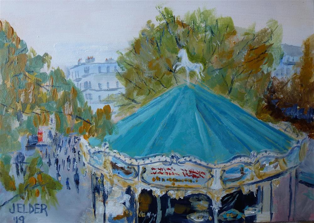 """Paris No. 123"" original fine art by Judith Elder"