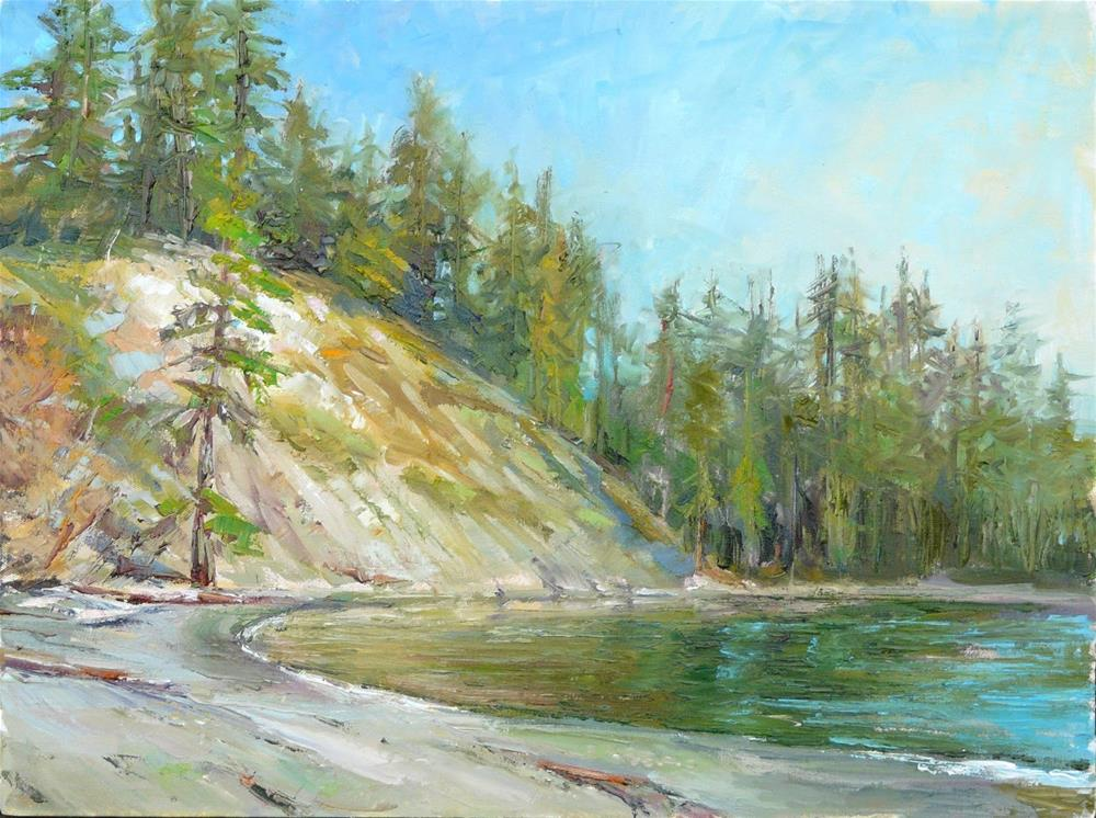 """Larrabee State Park Launch,seascape,oil on canvas,18x24,priceNFS"" original fine art by Joy Olney"