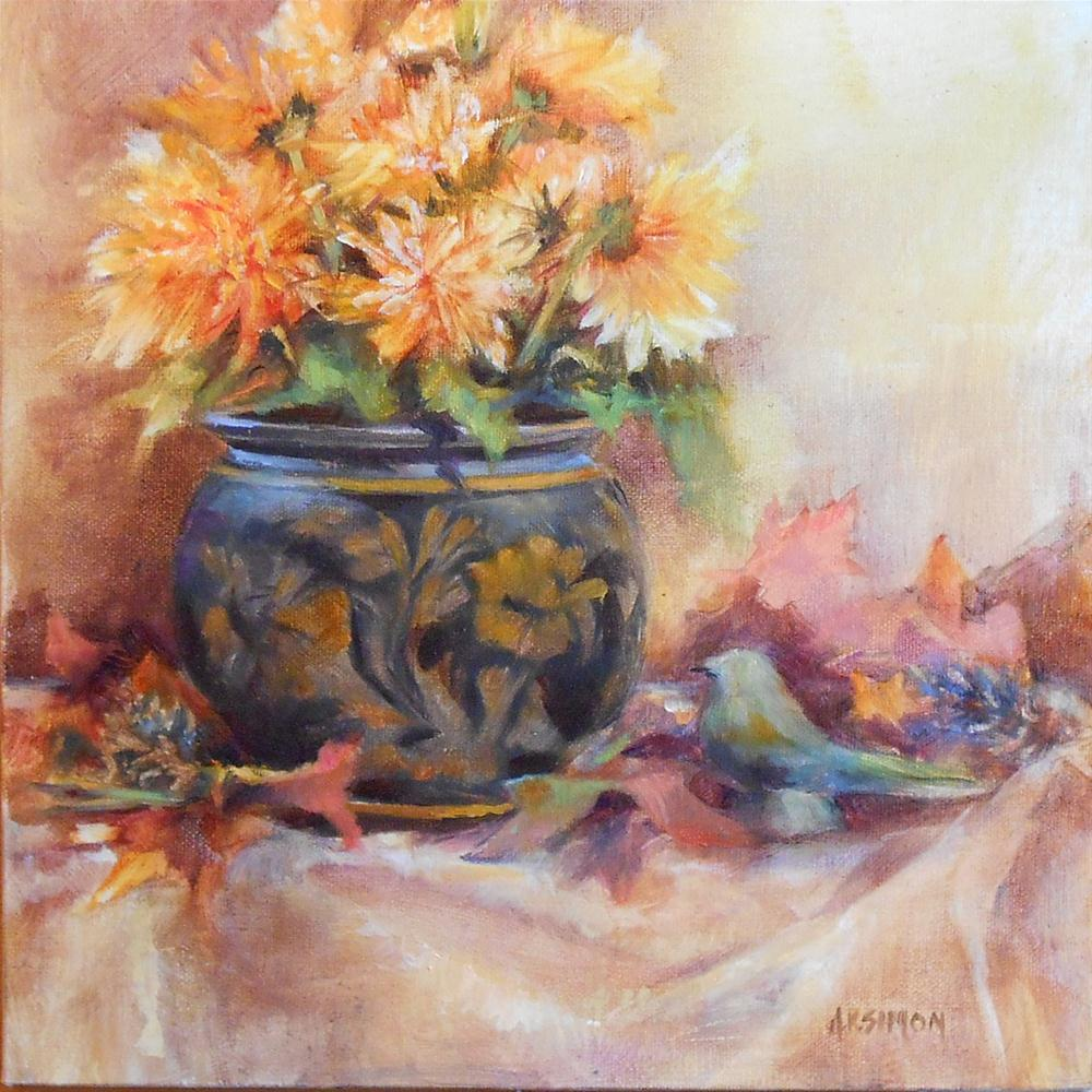 """Bringing Fall Inside"" original fine art by A.K. Simon"