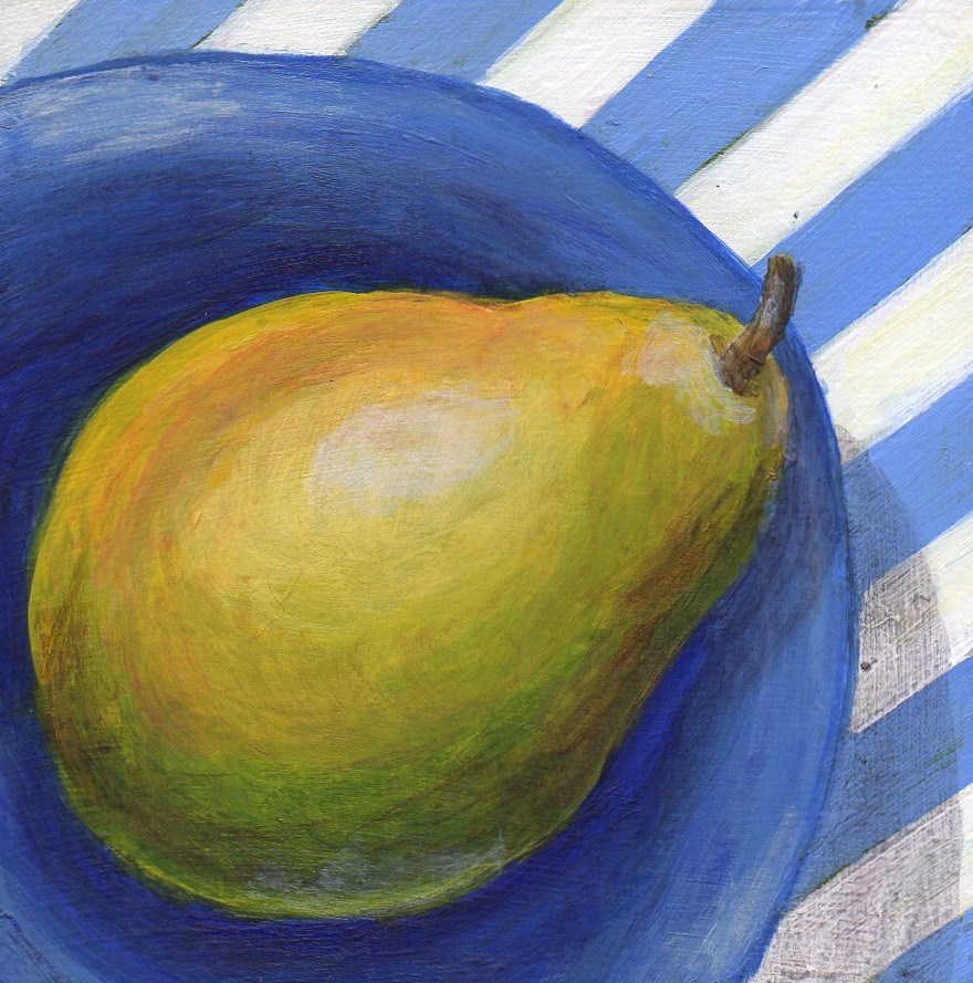 """Slanted"" original fine art by Debbie Shirley"