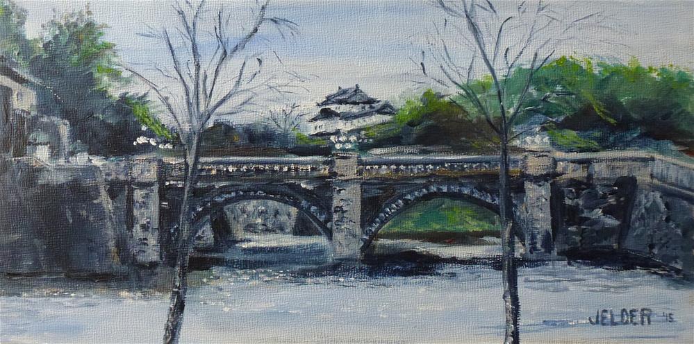 """Tokyo Imperial Palace"" original fine art by Judith Elder"