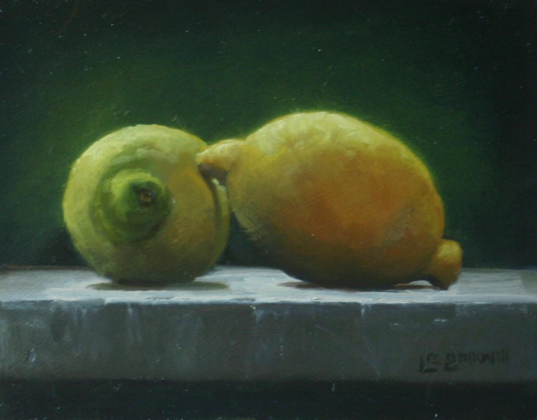 """""""A pair of lemons"""" original fine art by Liz Balkwill"""