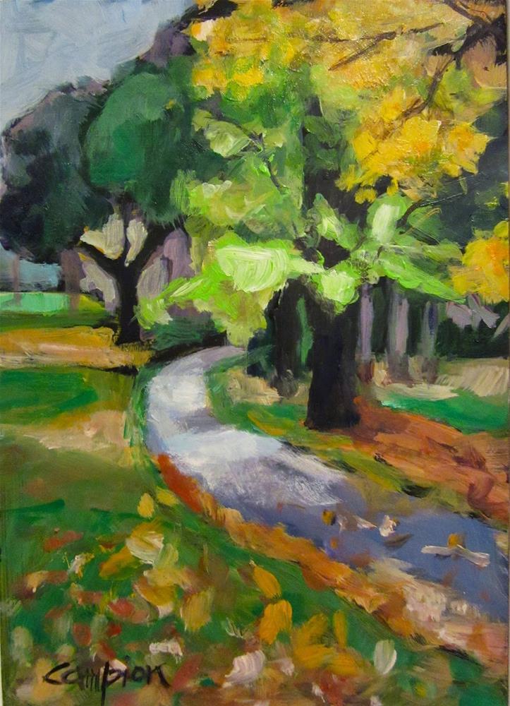 """""""498 Around the Bend"""" original fine art by Diane Campion"""
