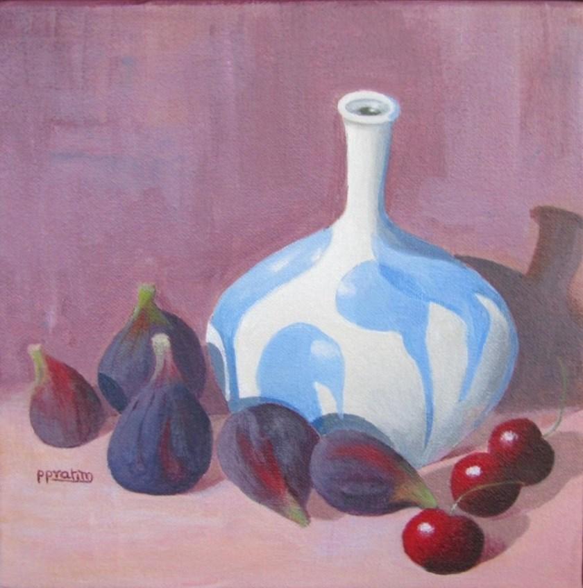 """Figs n cherries"" original fine art by Pratima Patel"