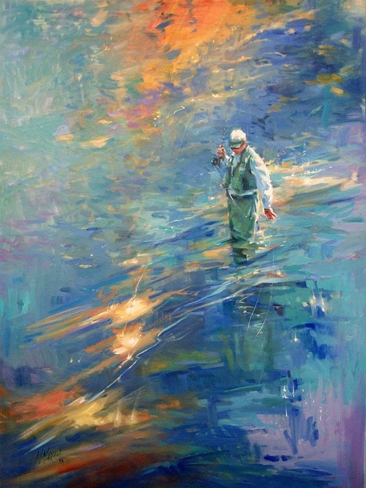 """""""Colors At The End Of The Day"""" original fine art by Mary Maxam"""